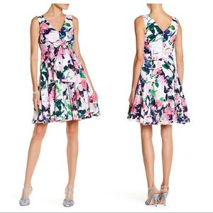 Betsey Johnson Dress Floral Fit & Flare Rose
